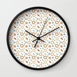 Fun Geometric Shapes Pattern Wall Clock