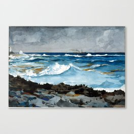 Winslow Homer Shore and Surf, Nassau Canvas Print