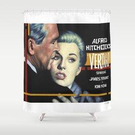 Vertigo poster version Shower Curtain