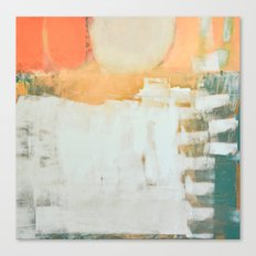 abstract, orange and green Canvas Print