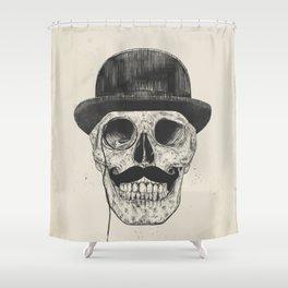 Gentlemen never die Shower Curtain