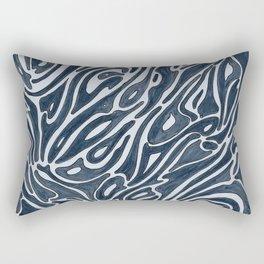 Art Nouveau Indigo Pattern Rectangular Pillow