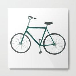 Green Fixie Bicycles Metal Print