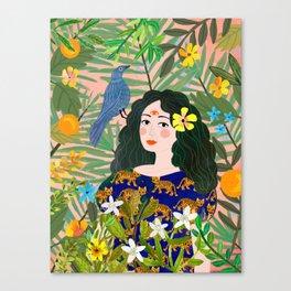 Boho Lady Canvas Print