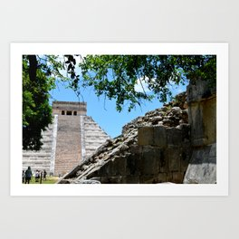 Pyramid in the Distance Art Print