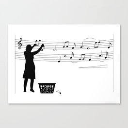Making music Canvas Print