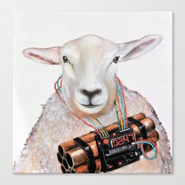 Sheep Fashionista Canvas Print