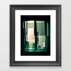 Window Cubism. Framed Art Print