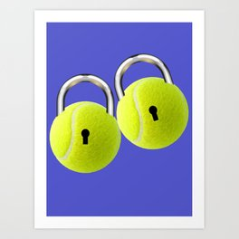 Ball Locks Art Print