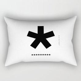 Helvetica Typoster #3 Rectangular Pillow