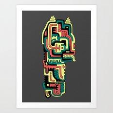 dAM Totem Art Print