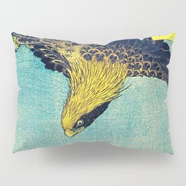 Hiroshige, Hawk Flight Over Field Pillow Sham