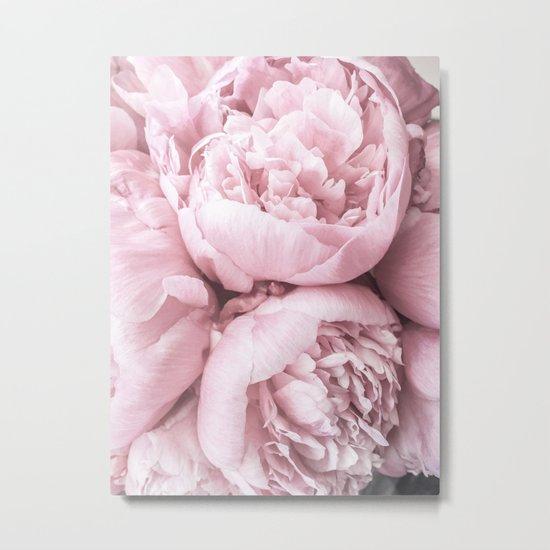 Lush Peony Flower Metal Print