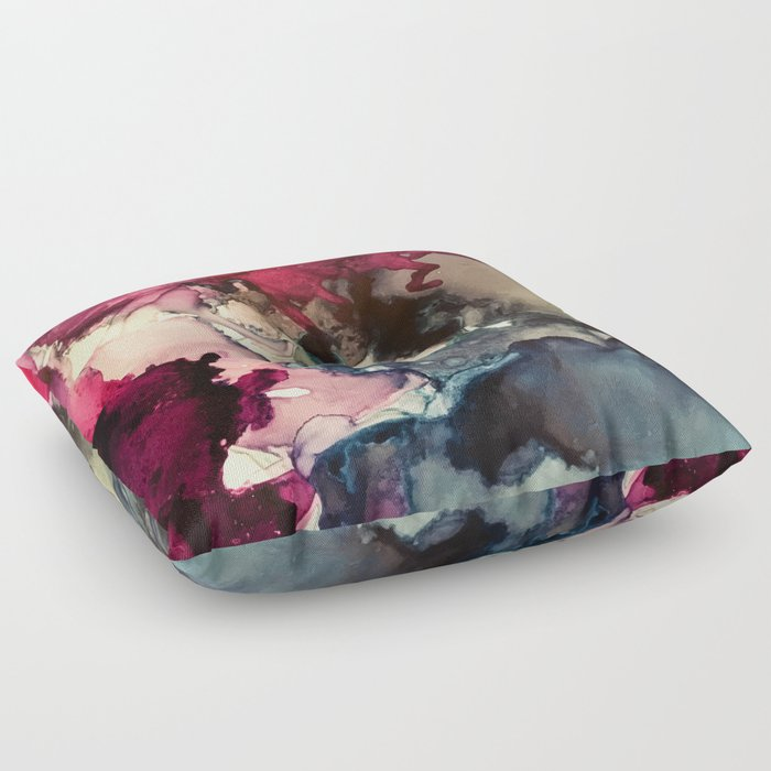 Dark Inks - Alcohol Ink Painting Floor Pillow