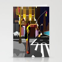 broadway Stationery Cards featuring BROADWAY KISS by Alfred Fox Art & Photography