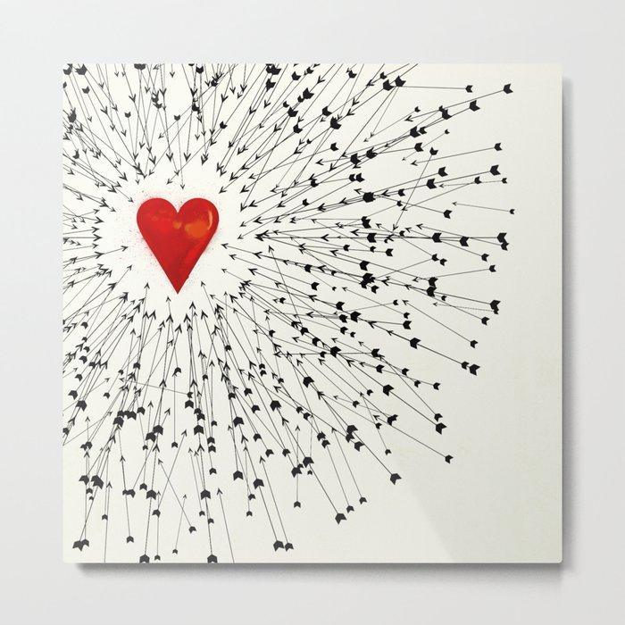 Heart&Arrows Metal Print