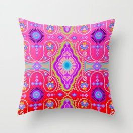exotic happiness medallions Throw Pillow