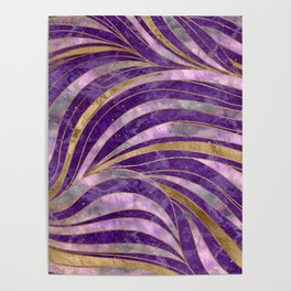 Amethyst and Fluorite Wavy Pattern Poster