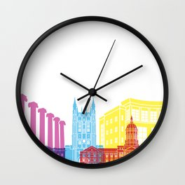 Columbia MO skyline pop Wall Clock