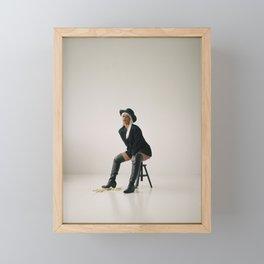 Cyber in studio Framed Mini Art Print