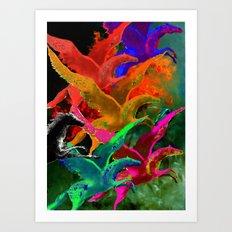 Holy Horses Art Print