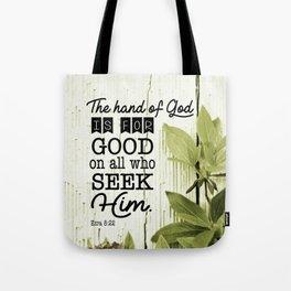 Ezra 8:22 Scripture Tote Bag