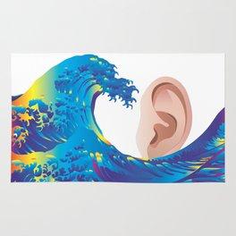 Hokusai Rainbow & Ear  Rug