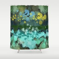 running Shower Curtains featuring Running water by thea walstra