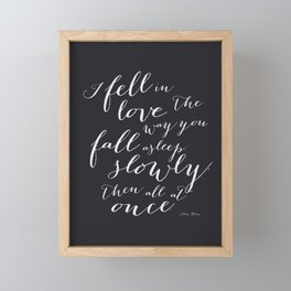 I Fell in Love Quote from The Fault in Our Stars in Black Framed Mini Art Print