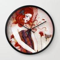 aurora Wall Clocks featuring Aurora by Minasmoke
