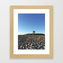 Lifeguard Chair Framed Art Print