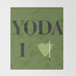 I heart Yoda Throw Blanket