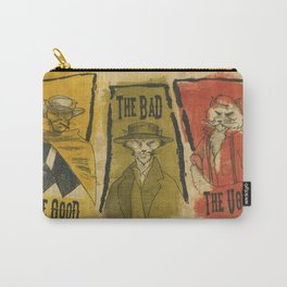The Good The Bad The Ugly Cats Carry-All Pouch