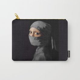 Ninja with a Pearl Earring Under Her Cowl Carry-All Pouch