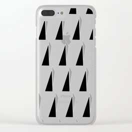 Black and Grey Clear iPhone Case