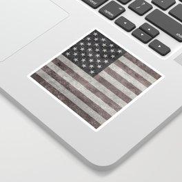 US flag in desaturated grunge Sticker