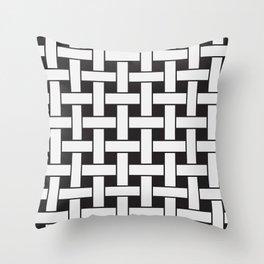 Plane Weave Seamless Pattern. Throw Pillow