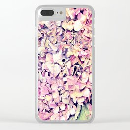 Pink fLowers Clear iPhone Case