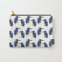 Kingfisher Bird Watercolor Painting Artwork Carry-All Pouch