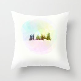 Breathe in the Crystal Air Throw Pillow