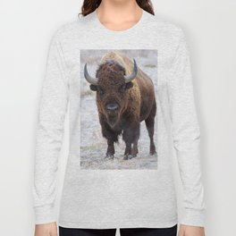 In The Presence Of Bison #society6 #decor #bison by Lena Owens @OLena Art Long Sleeve T-shirt