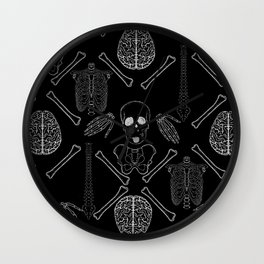 band of skulls - negative Wall Clock