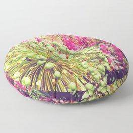 Green head poking through the red sea Floor Pillow