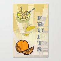 fruits Canvas Prints featuring Fruits by LoRo  Art & Pictures