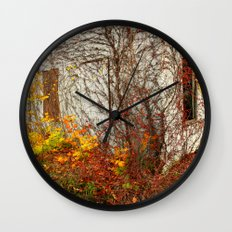 Somewhere in Rhode Island - Abandoned Mill 002 Wall Clock