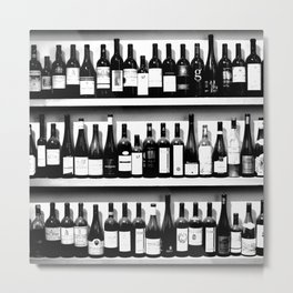 Wine Bottles in Black And White #society6 #decor Metal Print