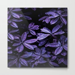 Stillness, Botanical Plants Leaves Metal Print