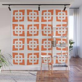 Cool Mid Century Modern Geometric Pattern 831 Orange Wall Mural