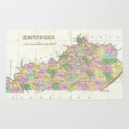 Vintage Map of Kentucky (1827) Rug