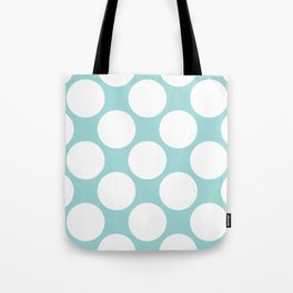 Polka Dots Blue Tote Bag